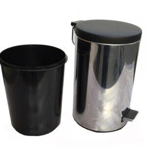 سطل پدال دار استیل 1